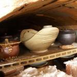 Vykládání pece v Doupěti u Nováků